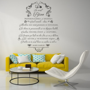 Sticker Decorativ - In Acest Birou