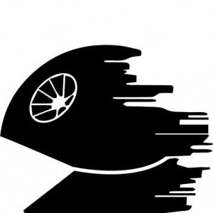 Sticker laptop - Death Star PacMan