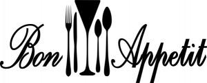 Sticker pentru Frigider - Bon Appetit