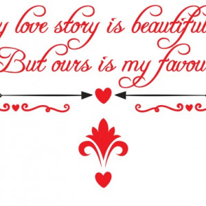 Sticker si canvas - Our Love Story