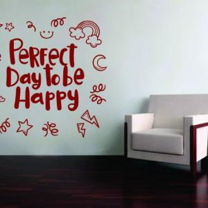 Stiker De Perete Perfect Day