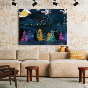 Tablou Canvas Colorful forest