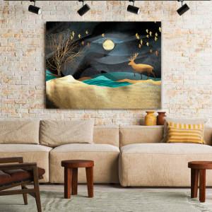 Tablou Canvas Deer And Golden Sands