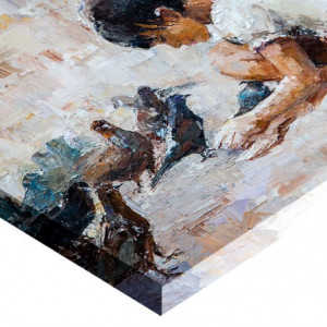 Tablou canvas efect pictura - Fetita cu porumbei