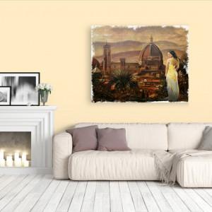 Tablou canvas efect pictura - Peisaj exoctic