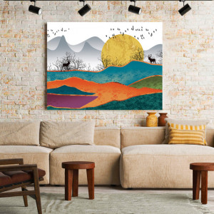 Tablou Canvas Golden Dawn over the Hills