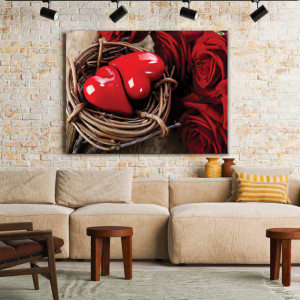 Tablou Canvas Hearts In A Nest