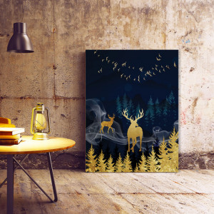 Tablou Canvas The Golden Spirits Of The Forest