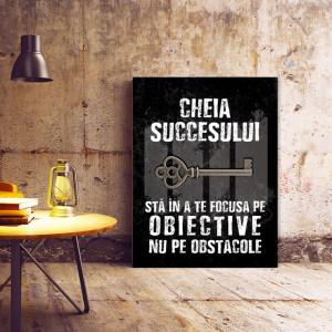 Tablou motivational - Cheia succesului (old grunge)