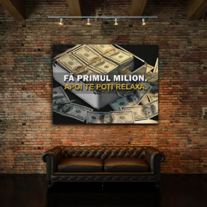 Tablou motivational - Fa primul milion