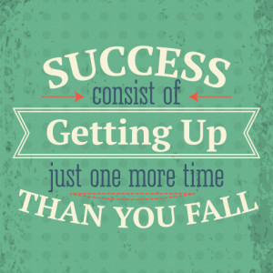 Tablou motivational - Getting up for success