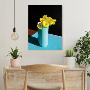 Tablou Office - Yellow Flowers, Blue Vase