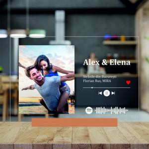 Tablou Personalizat Din Acrilic Cu Poza, Mesaj Text Si Melodia Voastra - Spotify