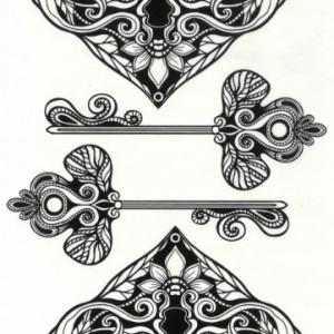 Tatuaj temporar -Cheie si inima- 17x10cm