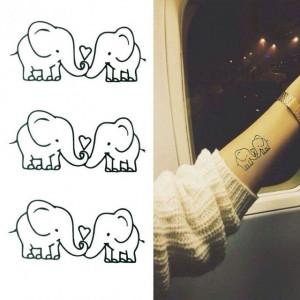 Tatuaj temporar - elefanti indragostiti - 10x6cm