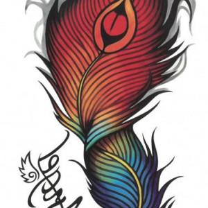 Tatuaj temporar -pana- 10x17cm