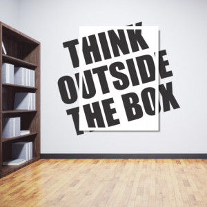Think outside the box tablou si sticker