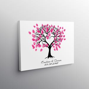 Finger print tree princess