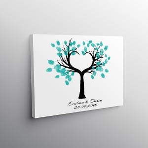 Finger print tree inima