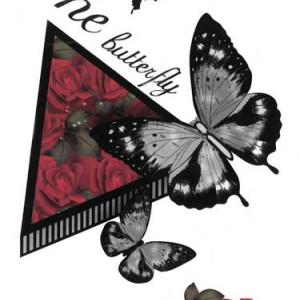 Tatuaj temporar the butterfly - 17x10cm