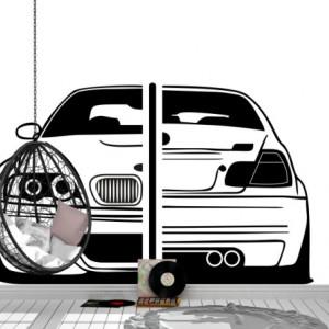 Auto BMW sticker vedere fata-spate