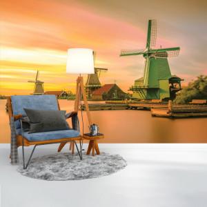 Foto tapet Windmills