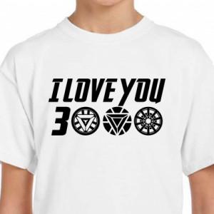 Imprimeu Tricou I Love You 3000