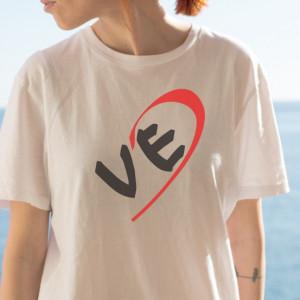 Imprimeu Tricou Love (Ea) - Jumate De Inima