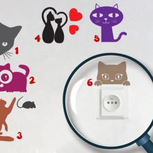Pachet Stickere pentru Prize - Pisici (Camera fete)