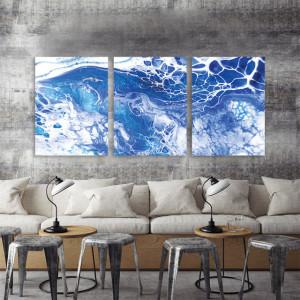 Set 3 tablouri - Ocean foam