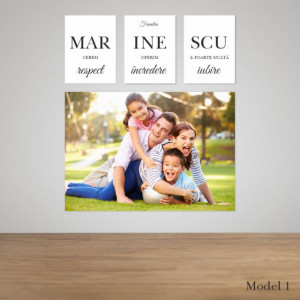 Set tablou familie - 4 tablouri canvas