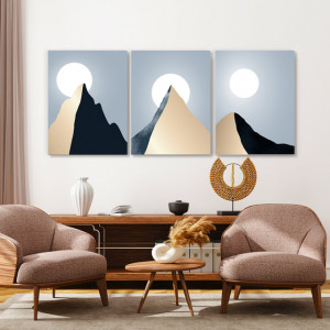 Set Tablouri Canvas - Solitary Mountain Peak