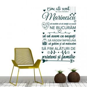 Sticker de Perete Bine Ati Venit In Casa Familiei - Familia Ta