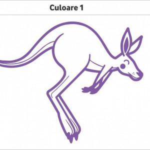 Sticker De Perete Cangur (In Doua Culori)