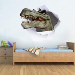 Sticker De Perete Cap De Dinozaur 3d