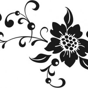 Sticker De Perete Cometa Florala