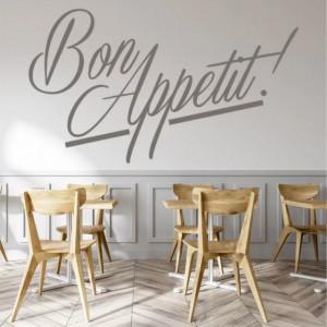 Sticker De Perete Cu Mesaj - Bon Appetit