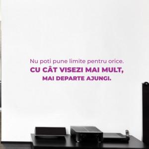 Sticker de Perete cu Mesaj - Nu Poti Pune Limite