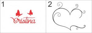 Sticker De Perete Cu Nume - Cristina