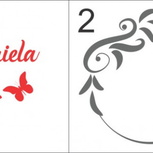 Sticker De Perete Cu Nume - Gabriela