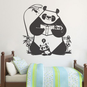 Sticker De Perete Familia De Panda