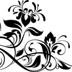 Sticker De Perete Floare De Sufragerie