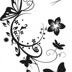Sticker De Perete Fluturi Ornamentali
