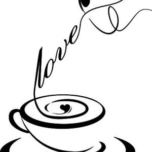 Sticker De Perete Love Coffee