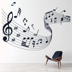 Sticker de Perete Music Score Musical Notes