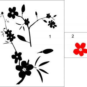 Sticker De Perete Ornament Floral 03