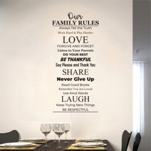 Sticker De Perete Our Family Rules