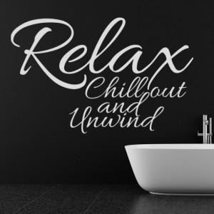 Sticker de Perete Relax, Chill Out