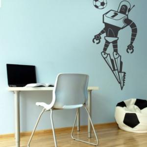 Sticker De Perete Robot Fotbalist 3