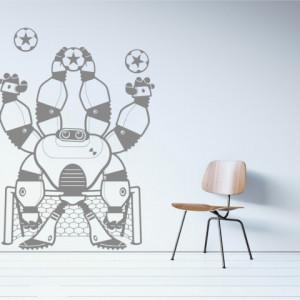 Sticker De Perete Robotel Fotbalist
